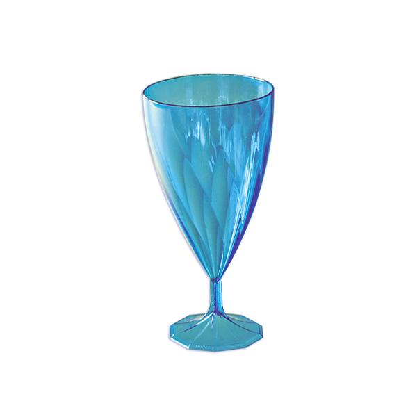 6 verres vin design plastique rigide bleu 15 cl. Black Bedroom Furniture Sets. Home Design Ideas